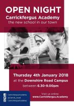 Carrickfergus Academy Open Night